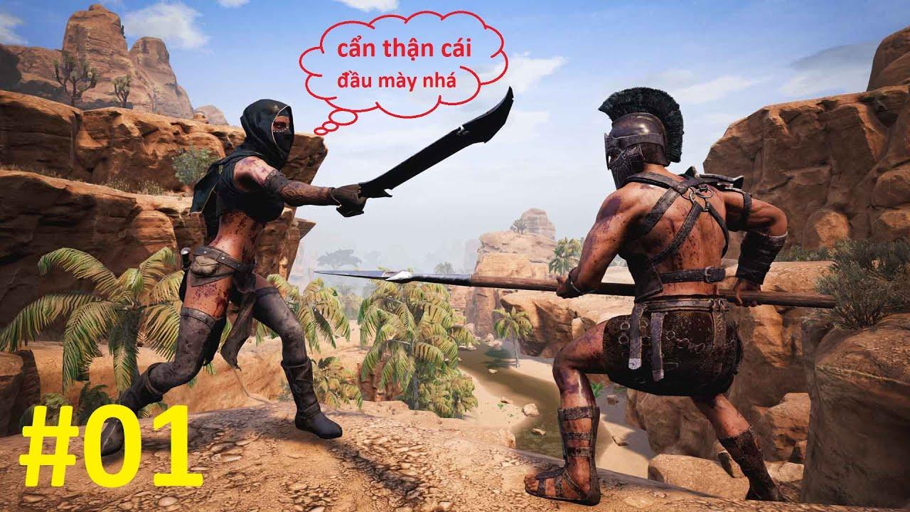 Conan Exiles #1 - Mình Trải Nghiệm Lại Tựa Game Sinh Tồn Trên Sa Mạc, Game Hay Quá Hay Mấy Bạn Ui! 😁