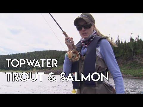 Brook Trout & Salmon Topwater Fishing