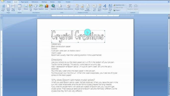 Microsoft Word Art 2007
