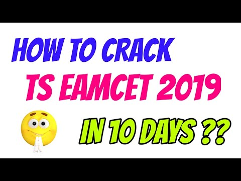 HOW TO CRACK TS EAMCET 2019 IN 10 DAYS || EAMCET TIPS AND TRICKS