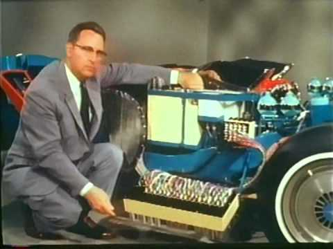 Harley Earl Firebird III Movie / showing first ever on-board computers in cars