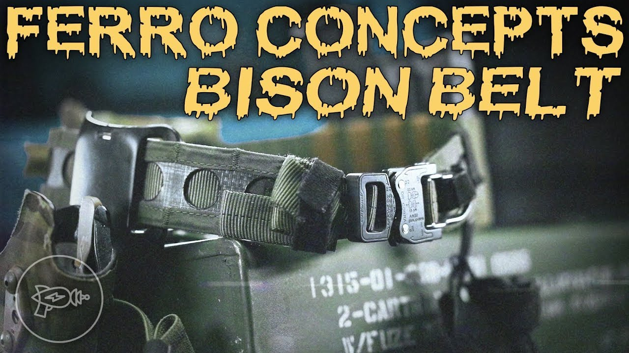 Space-Age Tactical Textiles: Ferro Concepts Bison Belt! [Review]