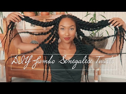 easiest-protective-style- -jumbo-senegalese-twist-on-3b/3c-natural-hair- -knotless