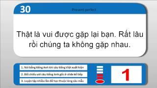 Luyện nói tiếng Anh - Phương pháp học thuộc câu mẫu - Mẫu câu theo cấu trúc ngữ pháp (câu 21-40)