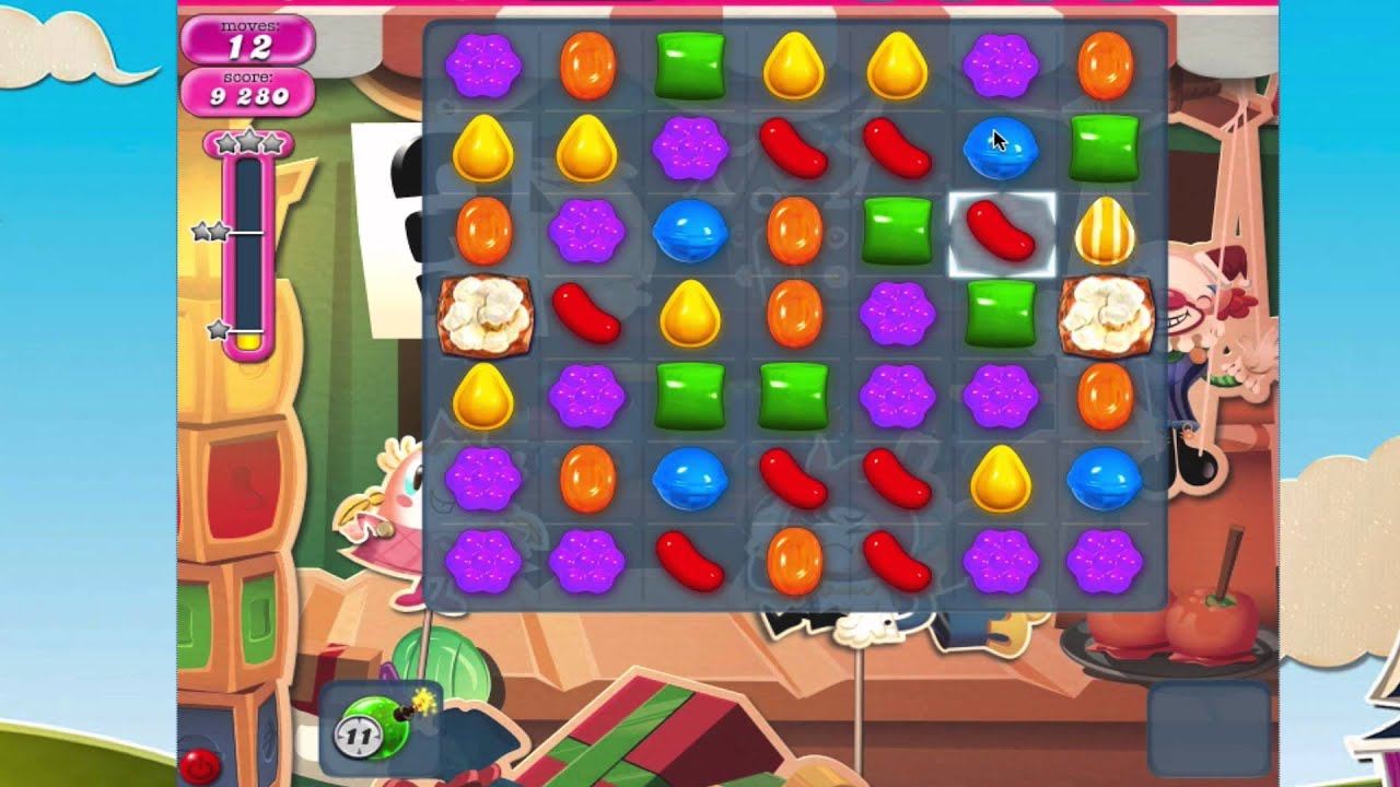 Candy Crush Saga Level 771 No Booster HOW POPCORN WORKS