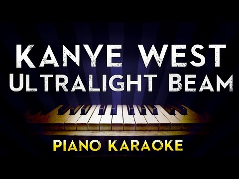 Kanye West - Ultralight Beam  | Lower Key Piano Karaoke Instrumental Lyrics Cover Sing Along