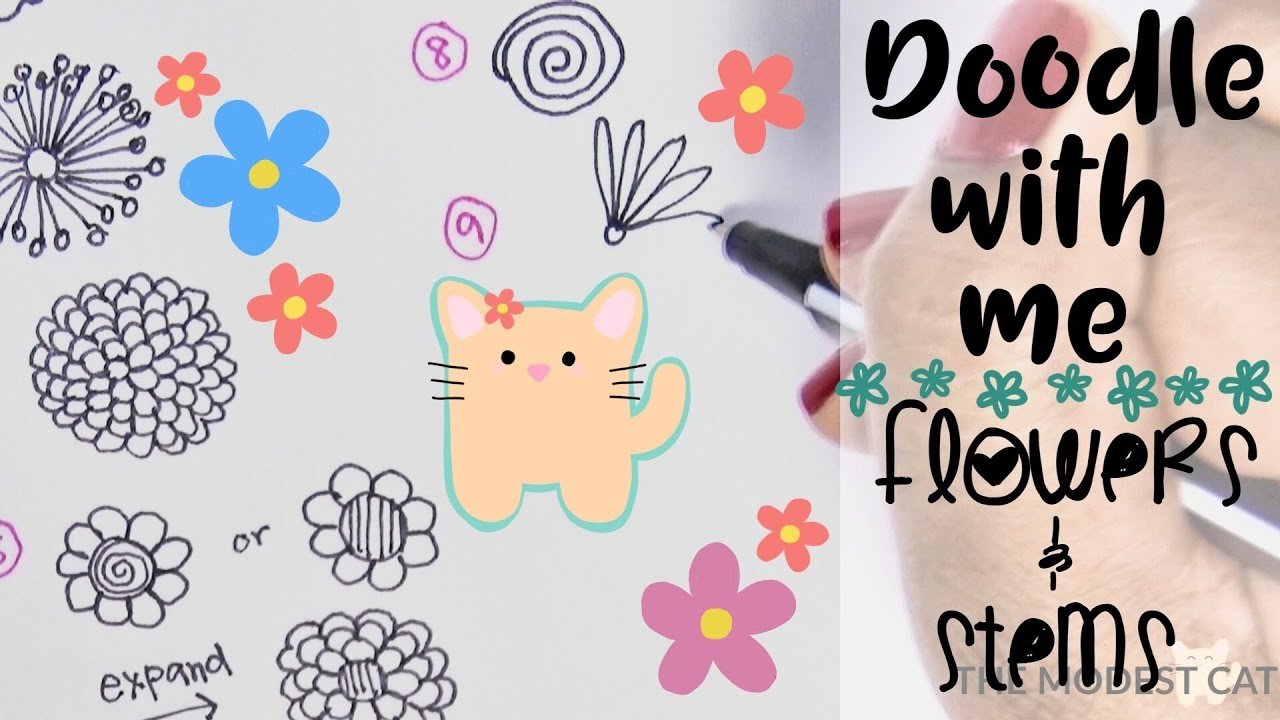 How to draw spring flowers and stems doodle with me free how to draw spring flowers and stems doodle with me free printable mightylinksfo