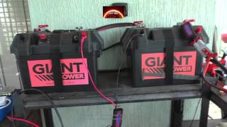 Realistic test of a Portable 12v System and Folding solar panel kits