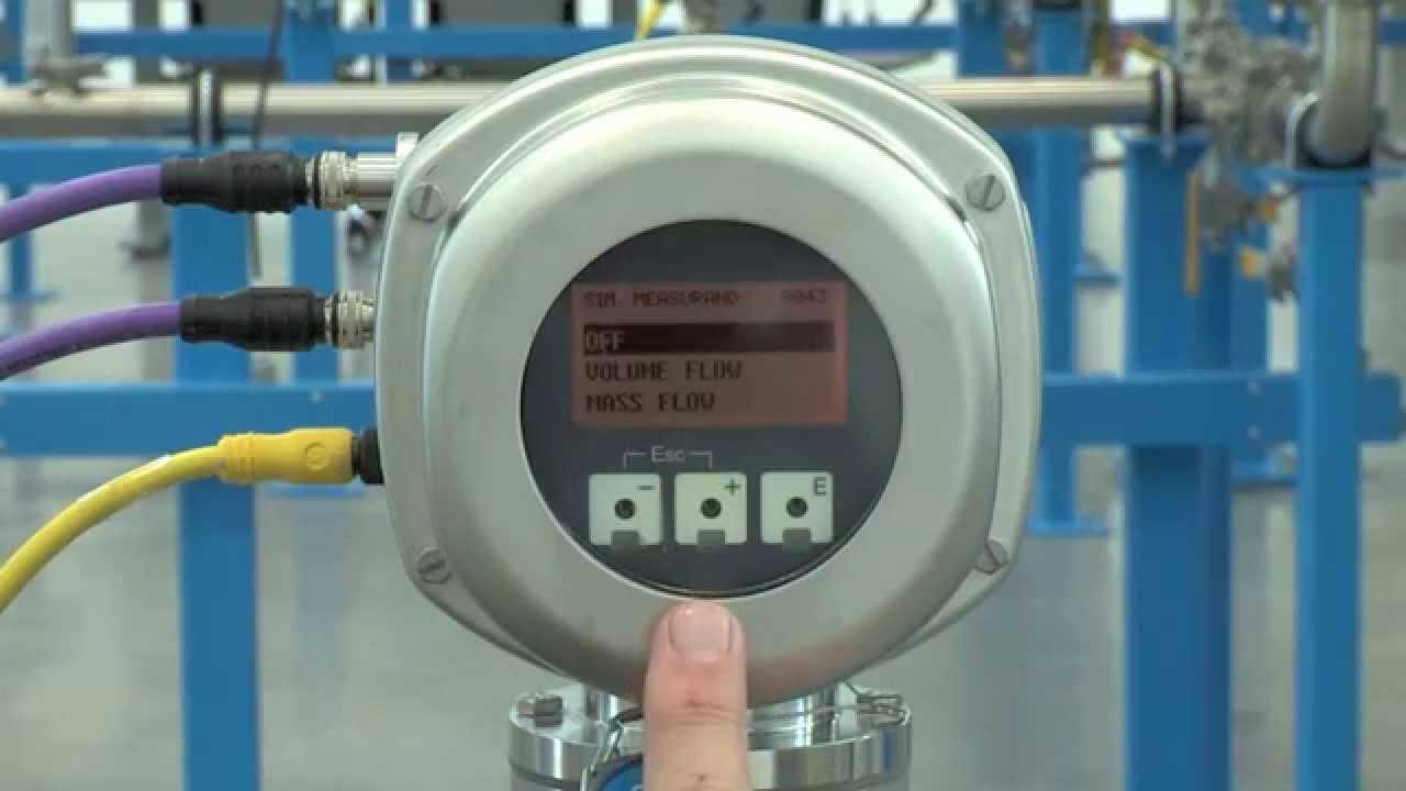 simulating flow rate promag 53 promass 83 prosonic 93 youtube rh youtube com endress hauser promass 83 flow meter manual Endress Hauser Promass Pulse Output