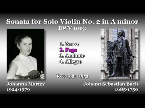 Bach: Sonata for Solo Violin No. 2, Martzy (1954) バッハ 無伴奏ヴァイオリンのためのソナタ第2番 マルツィ