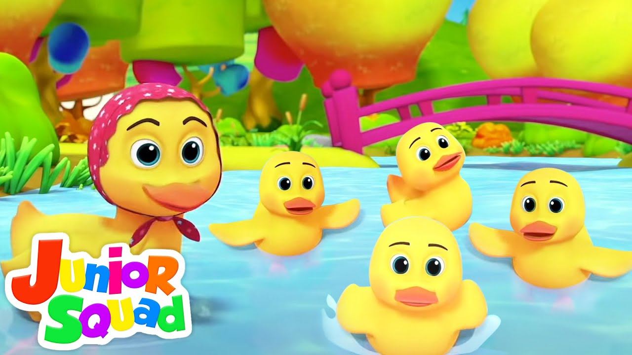Five Little Ducks went Swimming One Day | Baby Ducks Song | Nursery Rhymes and Kids Songs