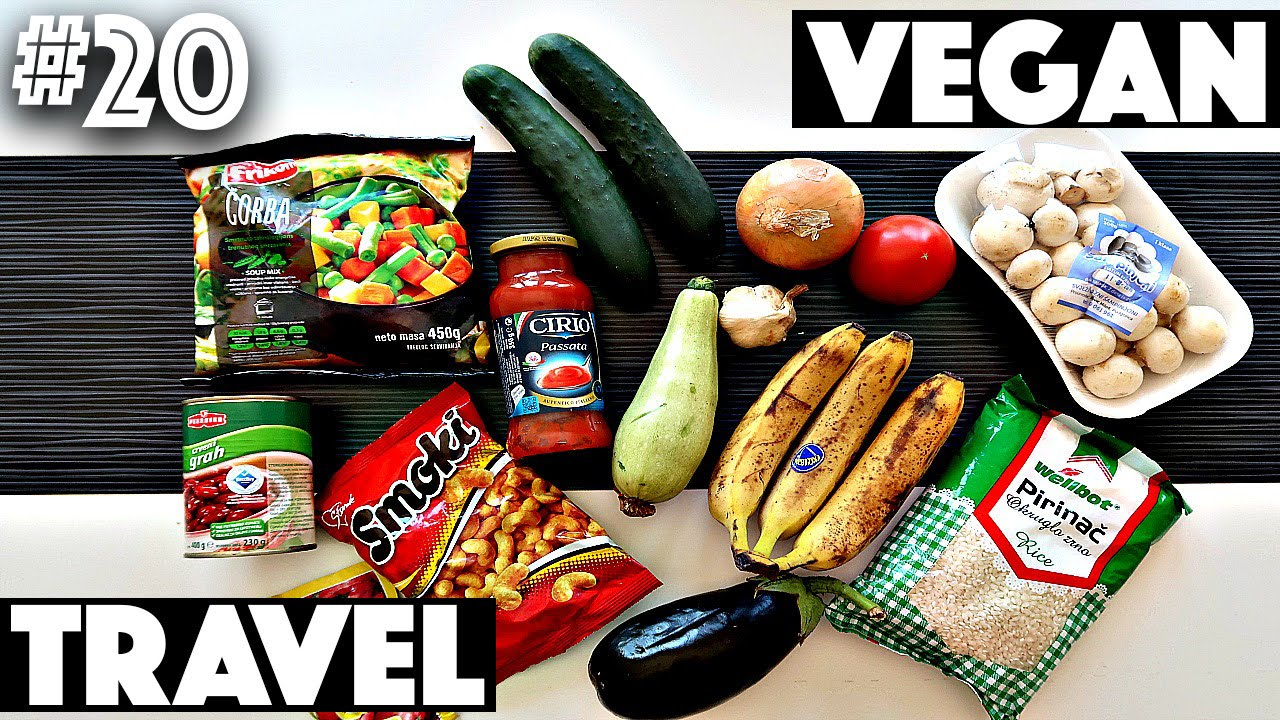 VEGAN GROCERY HAUL WHILE TRAVELLING | #20 (30 Videos in 30 Days) ♥ Cheap  Lazy Vegan