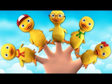 Five Little Ducks Went Out One Day - Nursery Rhymes by Banana Cartoon [4K]