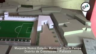 Estadio Municipal Gloria Pampa , distrito de Conchucos, Pallasca, Ancash