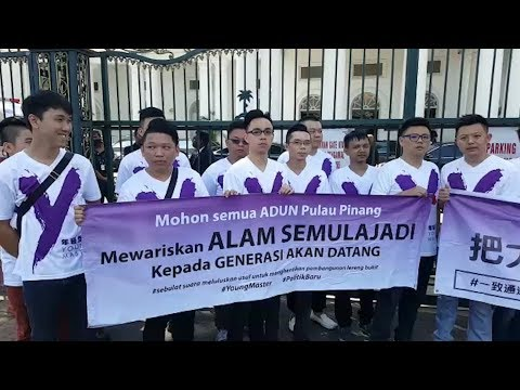 Group stages protest against hillside development in Penang