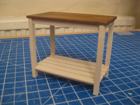 112th Scale Dolls House Work Table Tutorial.