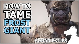 Detailed info about how to tame Frost Giant Bodyguard Pets! Locatio...