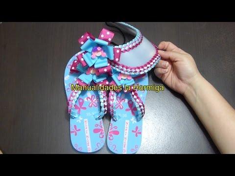 Como  Decorar Sandalias tejido de cintas,How to Decorate Sandals with fabric on ribbons