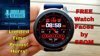 *FREEBIE ALERT!* Samsung Galaxy Watch/Gear Watch Faces by SSOM - Jibber Jab Reviews!