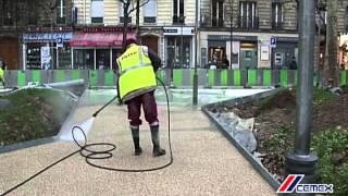 Eksponowanie kruszywa i dylatowanie dekoracyjnych nawierzchni chodnikowych DECO STONE