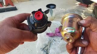 Mitsubishi lancer CE 4g93 fuel filter replacement.