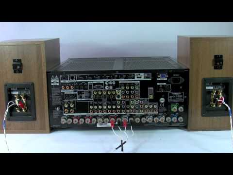 ONKYO Speaker connection - AVR AV Home Cinema Receiver - Bi-Wire Bi-Amp