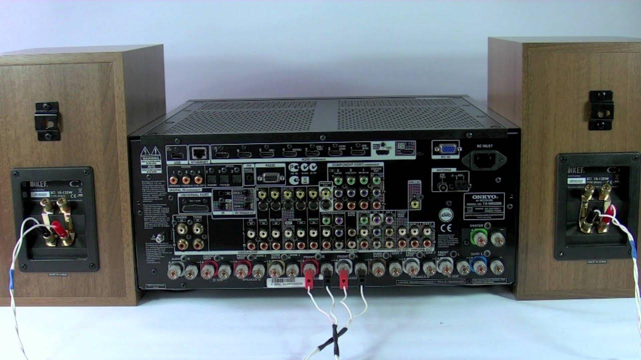 bi amp wiring diagram 2007 ford f150 trailer plug onkyo speaker connection avr av home cinema receiver