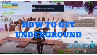 HOW TO GO UNDERGROUND GLITCH ANYWHERE! Fortnite Save The World
