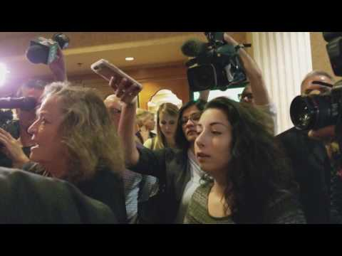 Protesters Confront Senator Dean Heller After Private Las Vegas Luncheon