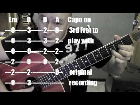 All Over the Road- Guitar Lesson / Tutorial (Standard Chord Version) Easton Corbin