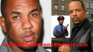 """The Game is BEEFING with WestCoast Legend Ice T says""""How you a G,if you a officer on tv!"""