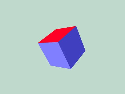 WebGL Tutorial 02 - Rotating 3D Cube
