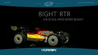Load Video 1:  Losi 1/8 8IGHT 4WD Nitro Buggy RTR