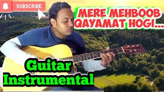 Mere Mehboob Qayamat Hogi(Film: Mr X in Bombay)Guitar Leads along with Karaoke Track