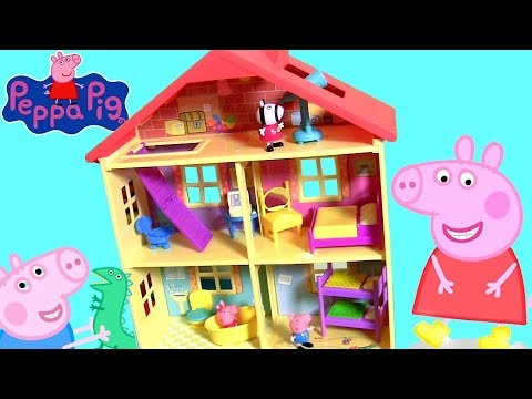 Huge Peppa Pig Lights N Sounds Family House With 7 Rooms For Pig George Daddy And Mommy By Funtoys