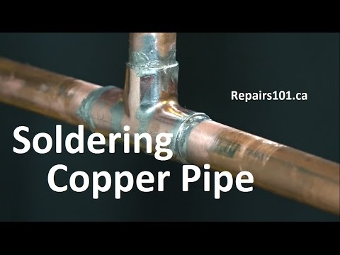 Soldering Copper Pipe Basics Noisy Pipes Water Hammer Fix