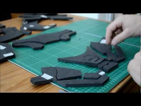 3 gluing the foam foam pepakura iron man suit armor for Iron man foam armor templates