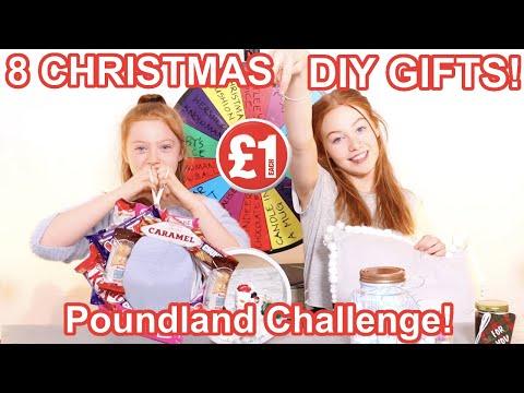 DIY Poundland Gift Makeover Challenge *Easy DIY Christmas Gift Ideas | Sis vs Sis | Ruby and Raylee