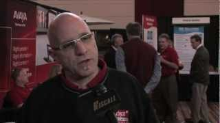 Brian Becker discusses the benefits of AVAYA products at Hiscall Technology Showcase