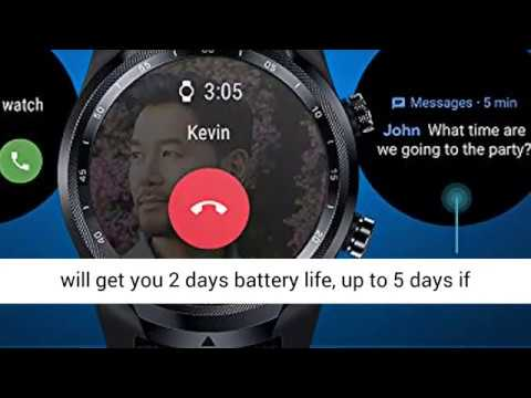 Dual Display Smartwatch Long Battery Life Cellular Connectivity for Verizon Phone Plan Users Available from August Only Available in US Swim-Ready Ticwatch Pro 4G//LTE