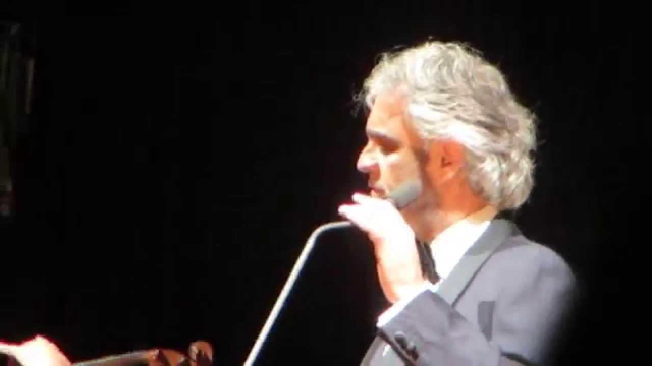 Andrea Bocelli Granada December 17 2014 Youtube