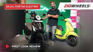 Bajaj Chetak Electric - Price, Top Speed, Range, Charging Time | First Look Review | ZigWheels