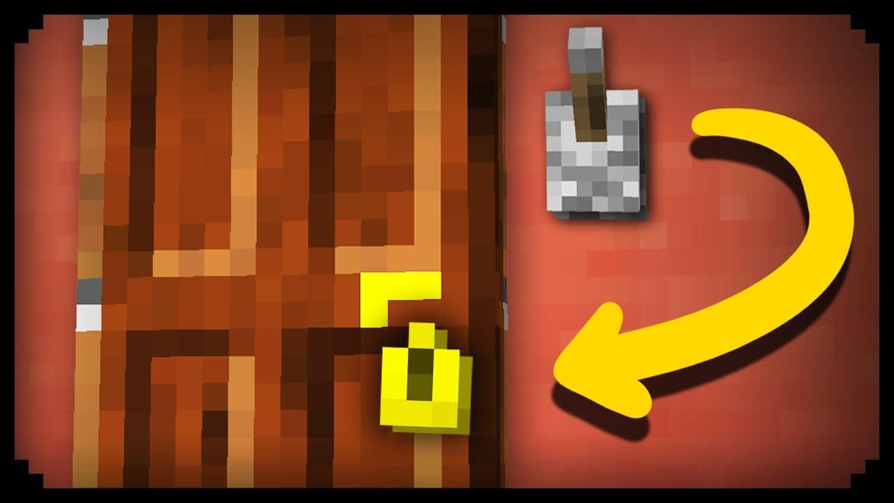 Minecraft How To Make A Working Door Lock Youtube