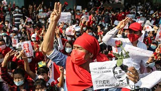 video: Myanmar shaken by biggest protests since Saffron Revolution as tens of thousands rally against coup