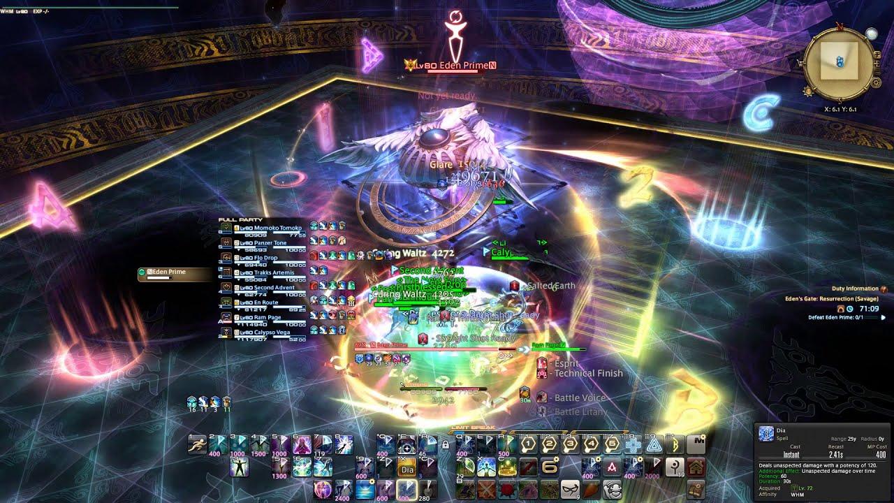 FFXIV Shadowbringers - Eden's Gate: Resurrection Savage WHM PoV