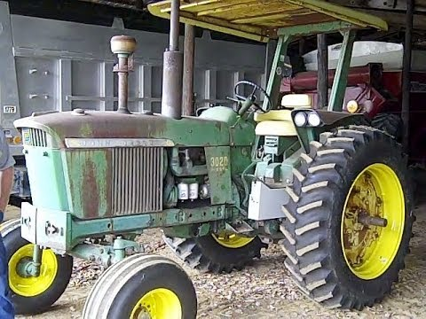 John Deere 3020 4020 Tractors Low Hours Sat Outside For 30 Years