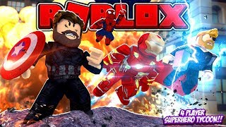ROBLOX - 4 PLAYER SUPERHERO TYCOON!!!!