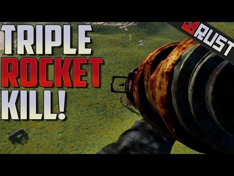Triple Rocket Kill From Heli  - Rust thumbnail