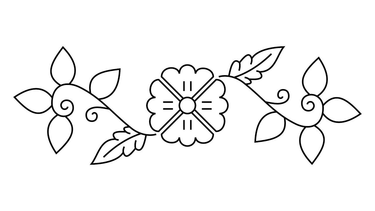 How To Draw Bangladeshi Nakshi Kantha Design - YouTube