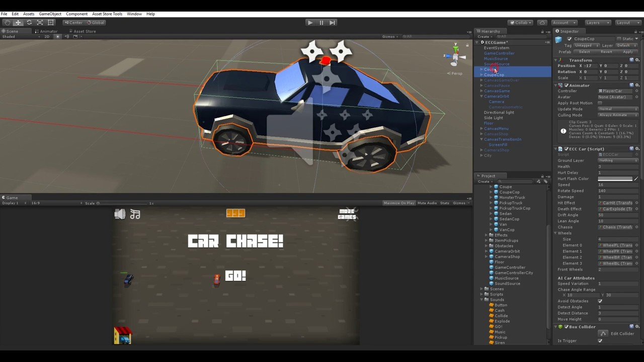 Endless Car Chase Game Template - Unity Forum